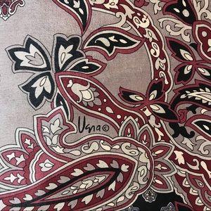 Vera handrolled silk paisley scarf